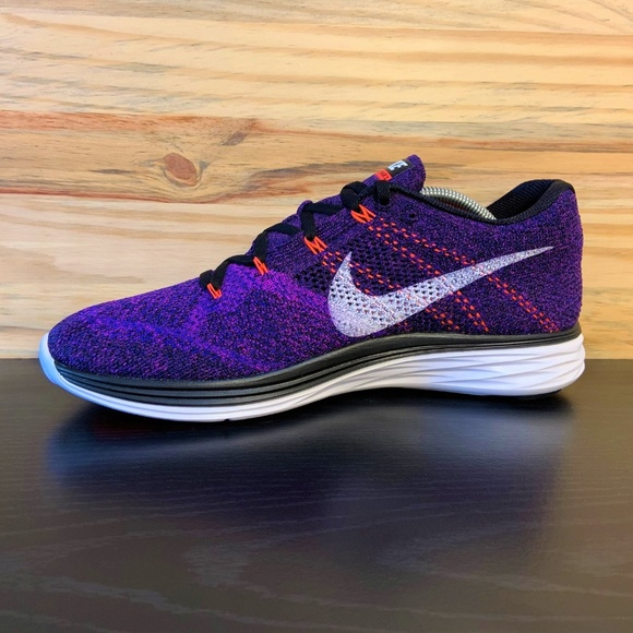 nuevo concepto siempre popular última moda New Nike Flyknit Lunar 3 Vivid Purple Running Shoe